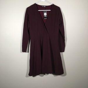 Boohoo Plus Burgundy Dress